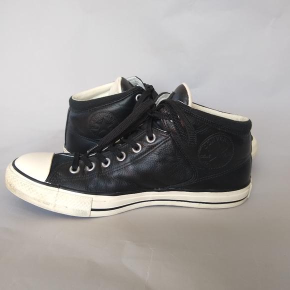 Converse All Star Chucks Black Leather Men's